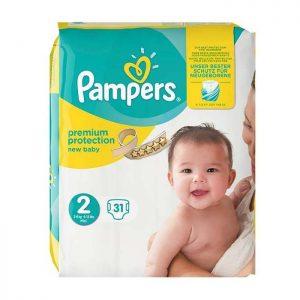 پوشک پمپرز مدل Baby Dry سایز ۲ بسته ۳۱ عددی