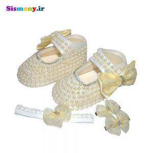 ست ۳ تکه لباس نوزادی دخترانه کد MC589