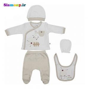 ست لباس نوزادی کارامل مدل ۳۲۰۷