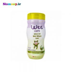 دستمال مرطوب کودک وی مدل Olive Oil بسته ۷۰ عددی