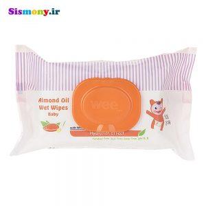 دستمال مرطوب کودک وی کر مدل Almond Oil بسته ۷۲ عددی