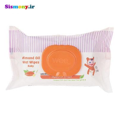 دستمال مرطوب کودک وی کر مدل Almond Oil بسته 72 عدد