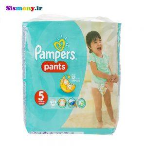 پوشک پمپرز مدل Pants سایز ۵ بسته ۲۲ عددی