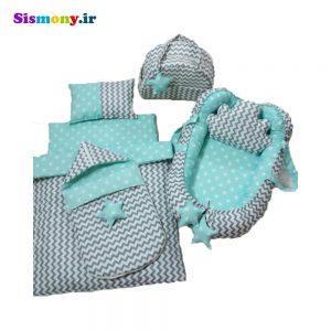 سرویس هفت تکه خواب نوزادی طرح ستاره کد ۵۰۳۱