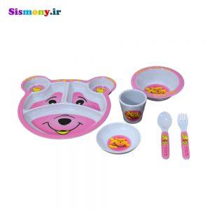 ظرف غذای کودک ۶ تکه طرح خرسی
