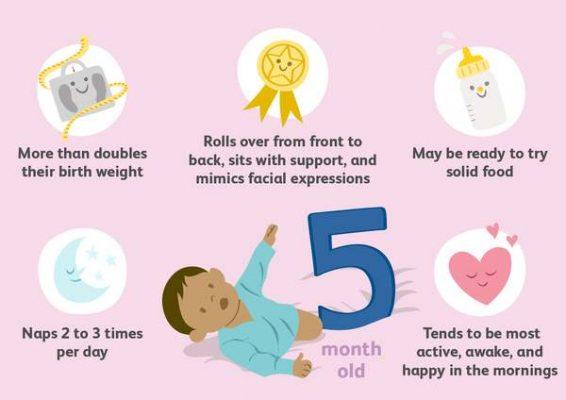 مراقبت های نوزاد پنج ماهه