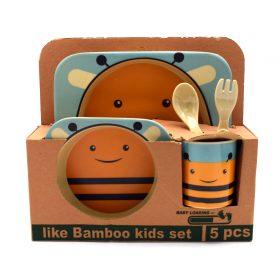 ظرف غذای 5 تکه کودک مدل زنبور