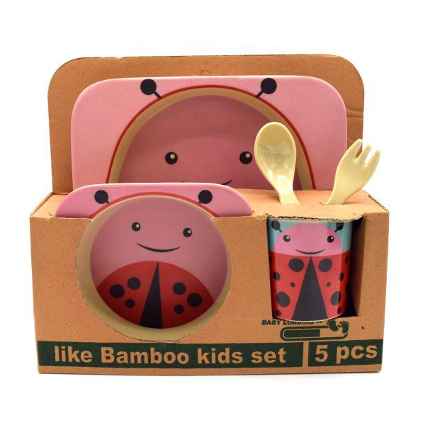 ظرف غذای 5 تکه کودک مدل کفش دوزک