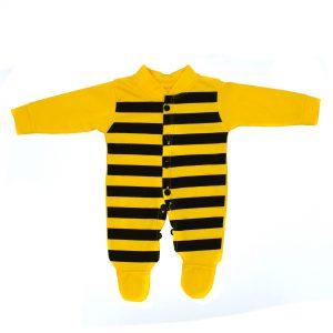 ست سرهمی و کلاه نوزادی مدل زنبور کد ۵۱۰
