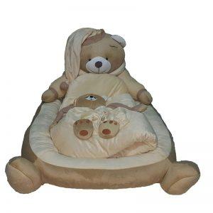 سرویس خواب لبه دار ۴ تیکه طرح خرس